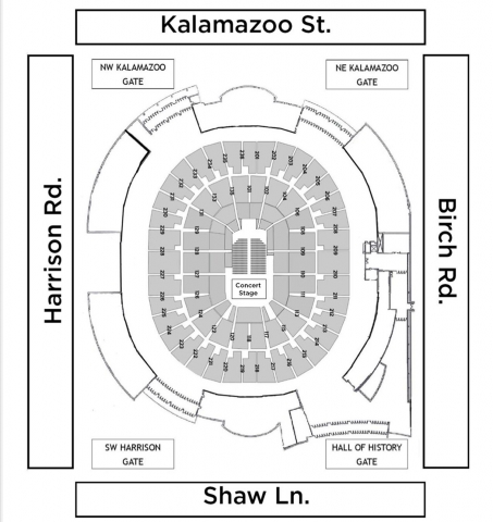 Concert Seating Map